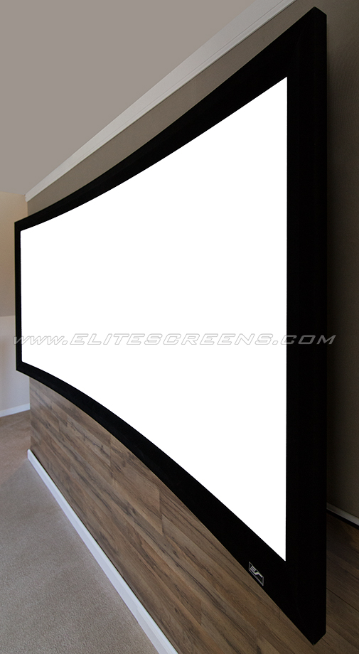 Elite Screens 174 Lunette 2 Series Curved Home Theater Fixed